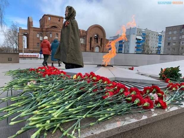 Назаровцы празднуют 76 годовщину Великой Победы