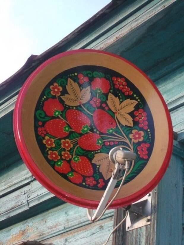 Роспись спутниковой тарелки