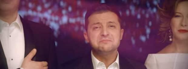 Зарабатывающий денежки в России Зеленский снялся в клипе с боевиками АТО (видео)