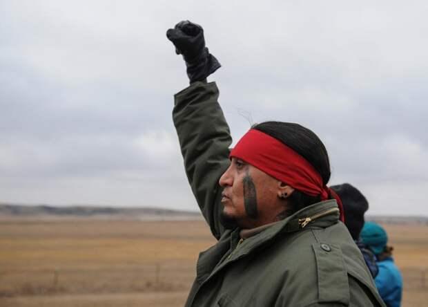 Протест индейцев