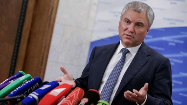 Володин назвал ответственных за проблемы граждан и бюджет