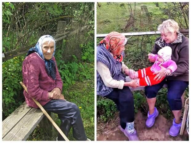 Приезд внуков- это всегда событие для деревенских стариков! Фото из личного архива автора.