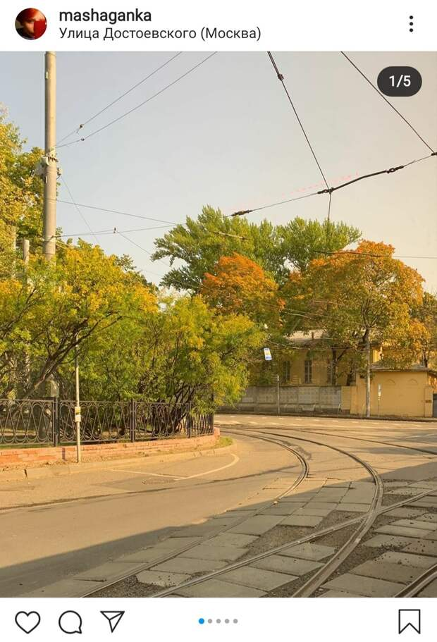 Фото дня: золото над трамвайными путями
