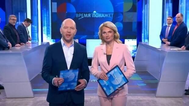 Обсуждая отвод войск РФ от украинских границ Кузичев покинул студию «Время покажет»