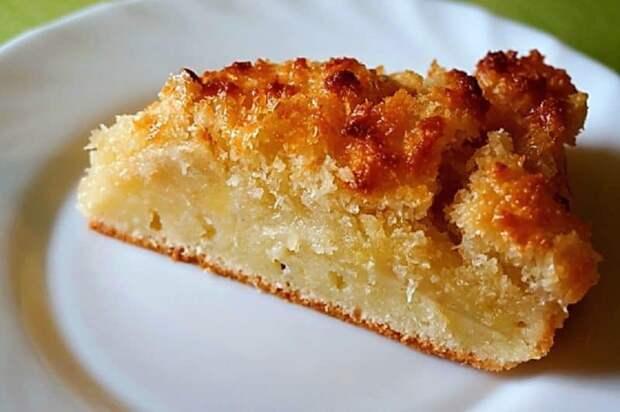 Быстрый пирог с творогом и яблоками. Вкусный десерт перед которым мало кто сможет устоять 2