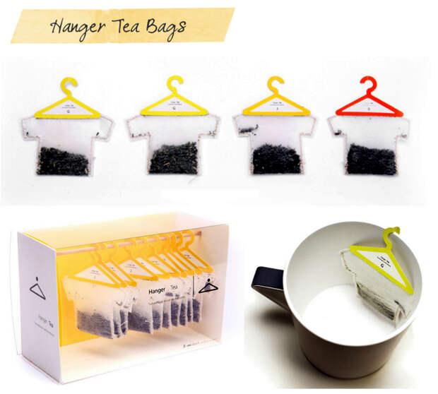 Оригинальный дизайн чайных пакетиков.