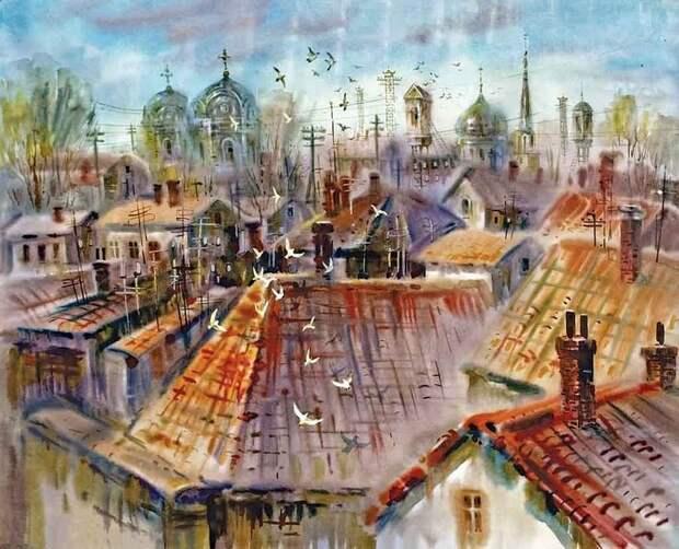 Леонид Герасимов. Симферопольские крыши
