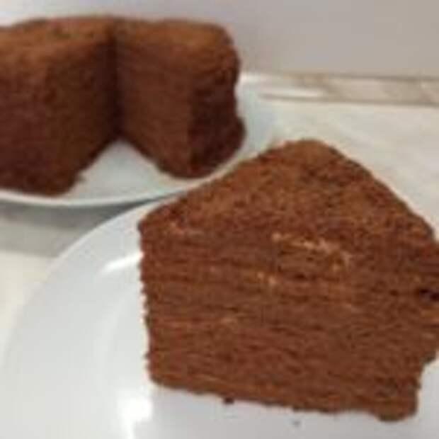 Нежный торт «Шоколадный Медовик» со сметанным кремом
