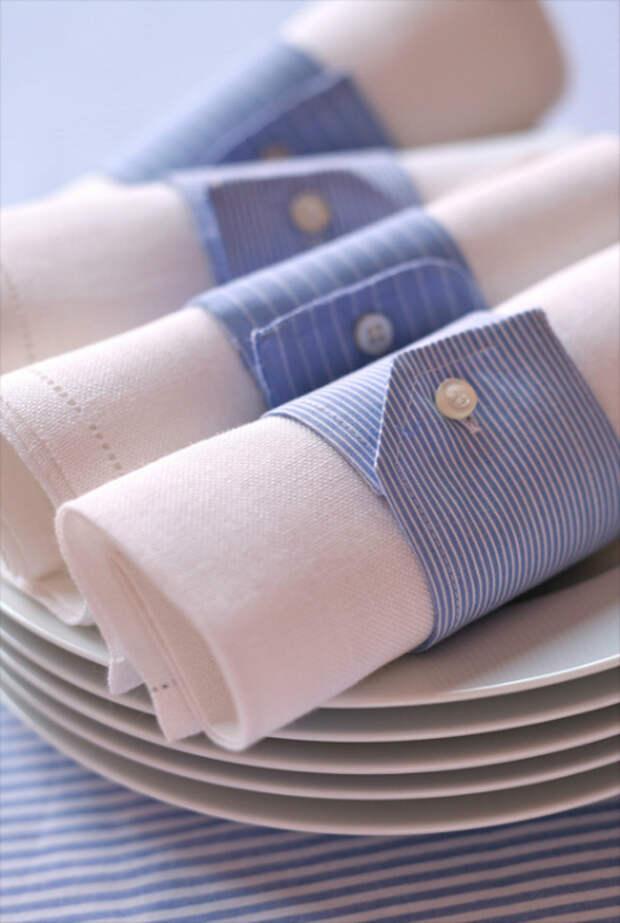 Текстильные кольца для салфеток.