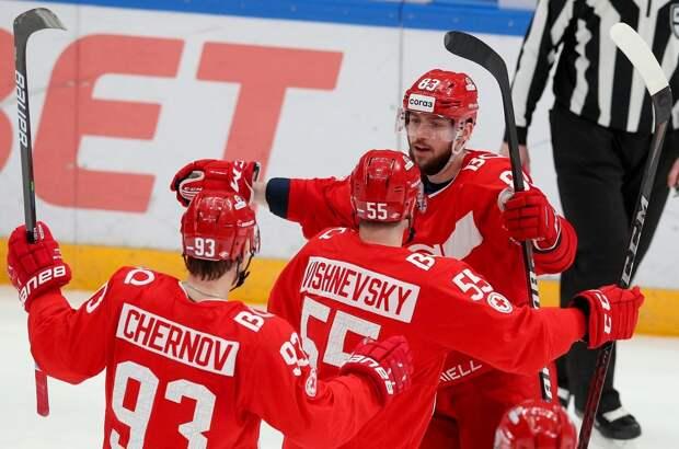 «Спартак» вышел в плей-офф КХЛ после поражения «Витязя» от «Йокерита»