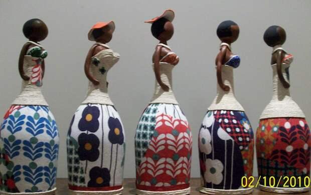 Бутылочные куклы: как сделать 18 красивых моделей. Видео мастер-класс по изготовлению бутылочной куклы.