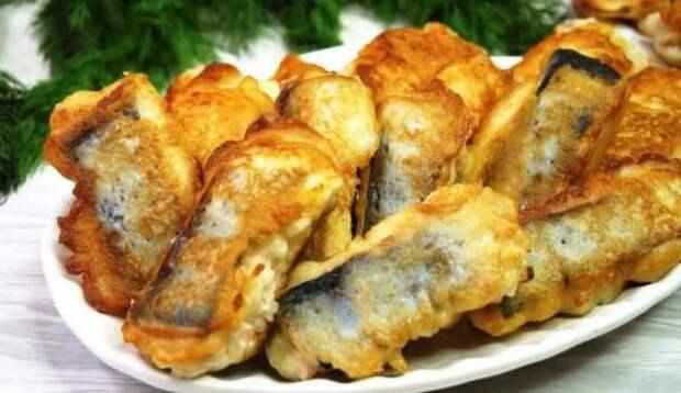 Жареная рыба в луковом кляре. Вкусно, сочно, ароматно!