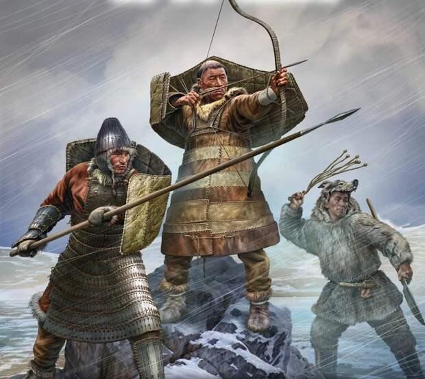 Чукотские воины. Изображение взято из открытых источников