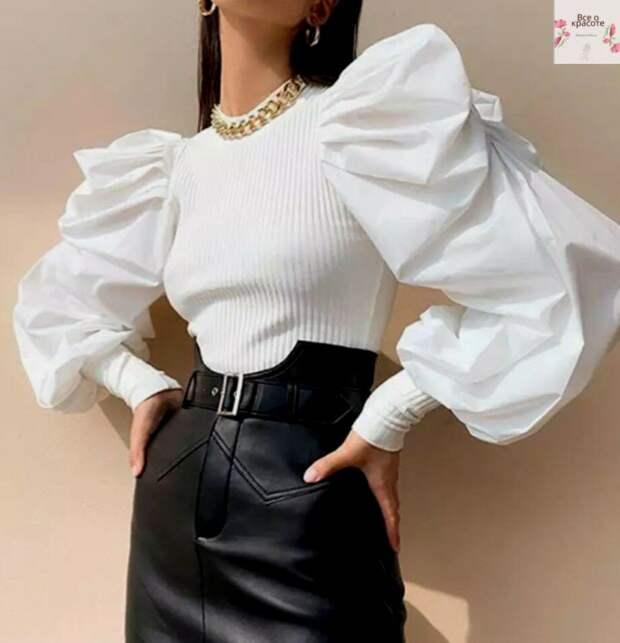 Элегантные, стильные и такие восхитительные модели блуз с рукавами буфами: прекрасная мода 2021!