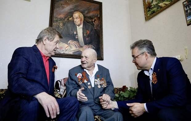 Лев Лещенко навестил 102-летнего ветерана на Ставрополье