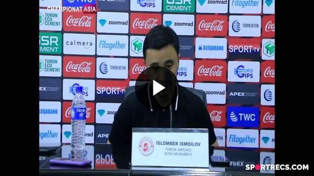"""Islom Ismoilov: """"Futbolchilar ikkinchi bo'limda o'zlarida kuch topa olishdi"""""""