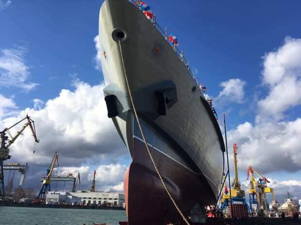 В российском Крыму спустили на воду очередной красавец-корабль