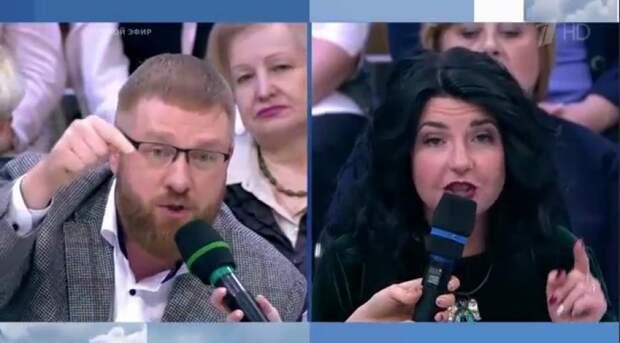 «Когда разум восторжествует»: Малькевич поспорил с Соколовской на Первом канале о ситуации в России