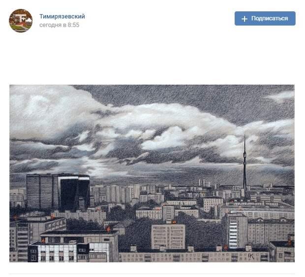 Фото дня: Тимирязевский и окрестности в красках