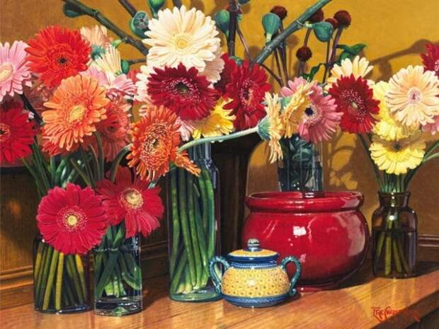 Цветочные натюрморты Эрика Кристенсена.   Фото: livemaster.ru