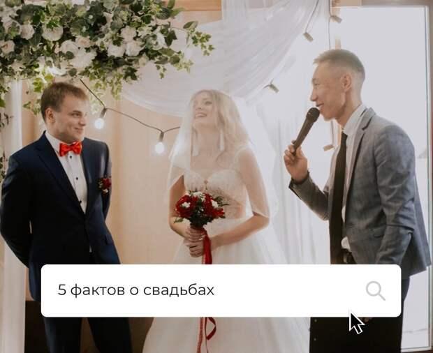 5 фактов о свадьбах!