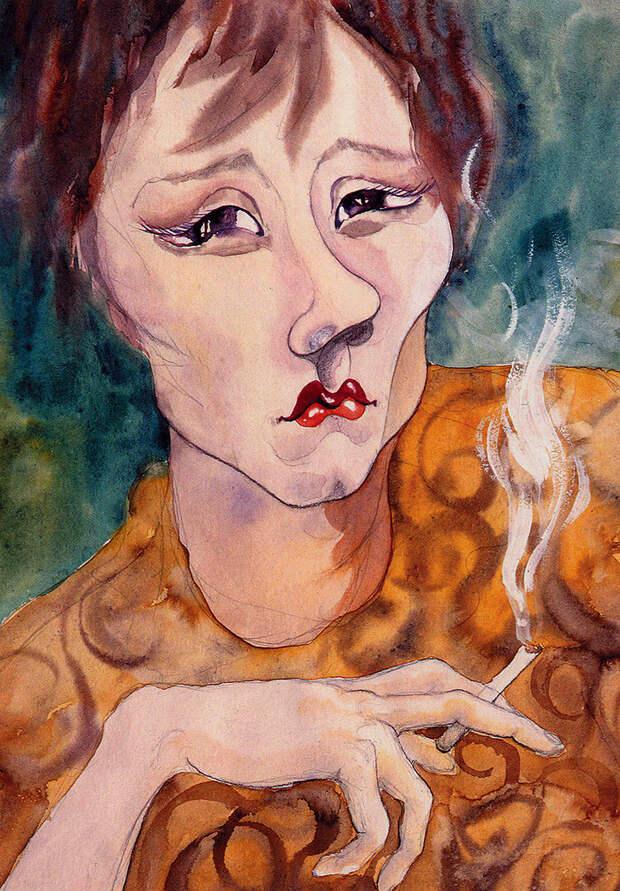 Татьяна Лаврова. Рисунок Юрия Богатырева.