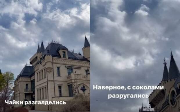 """Максим Галкин показал вид своего шикарного замка весной: """"Чайки разгалделись. Наверное, с соколами разругались"""""""