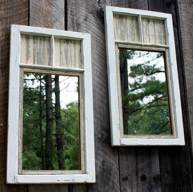 Старые оконные рамы в новом амплуа: удачные идеи, достойные всяческих похвал