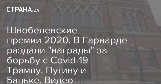 """Шнобелевские премии-2020. В Гарварде раздали """"награды"""" за борьбу с Covid-19 Трампу, Путину и Бацьке. Видео"""