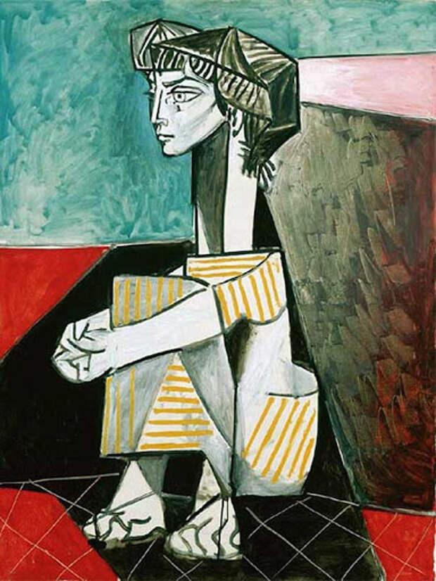Картина Пабло Пикассо. Жаклин со скрещенными руками. 1954 | Пабло Пикассо