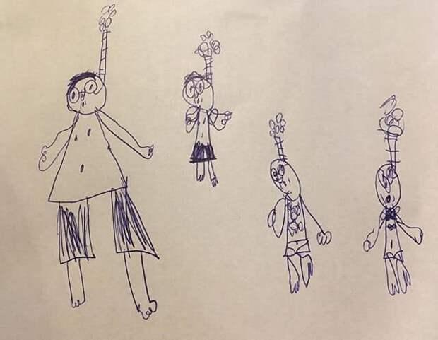15 детских рисунков, которые может понять и полюбить только мама