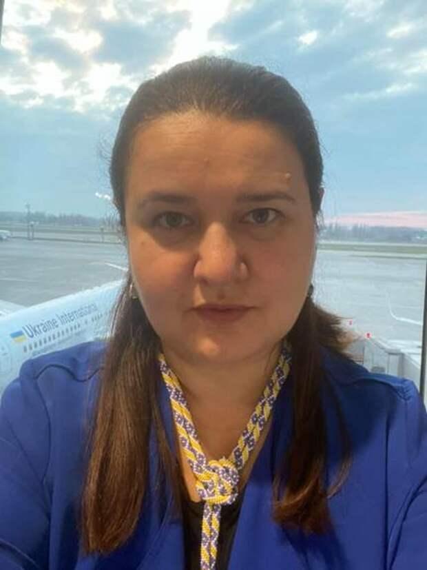 Новый посол Украины в США Оксана Маркарова улетела в Вашингтон