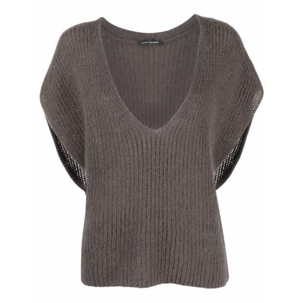 Прохладными летними вечерами носите пуловеры с коротким рукавом