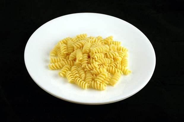 Приготовленные макароны (145 грамм = 200 калорий):