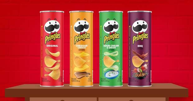 Pringles первые за 20 лет обновил упаковку «покрасил» свой талисман
