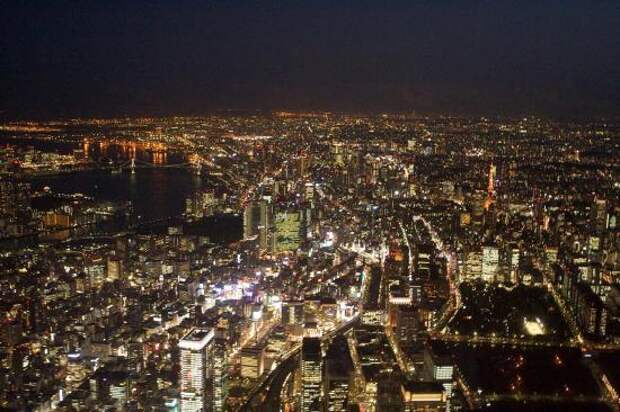 Токио ночью.