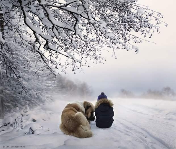 KidsWithAnimals09 Россиянка создает потрясающие фотографии своих детей с животными в деревне