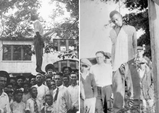 Суд Линча над темнокожими. Техас, США, 1920. Фото слева стало открыткой | Фото: glavpost.com
