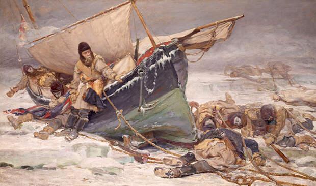 Избражение экспедиции Франклина и Крозье.