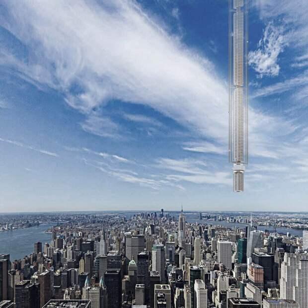 Башня, свисающая с астероида: каким стал самый необычный проект архитекторов