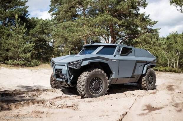 Бронеавтомобиль Arquus Scarabee. Выглядит и движется как краб