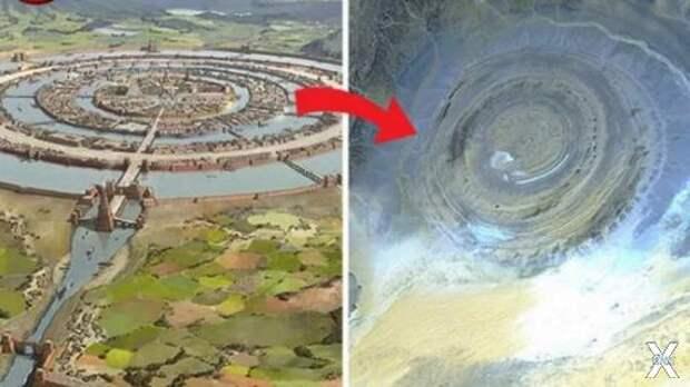 Сравнение реконструкции Атлантиды и с...
