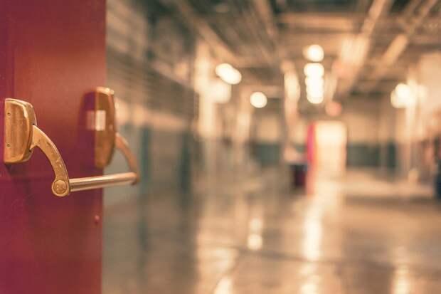 Дверь, Вход, Больница, Проезд, Красный, Ручка