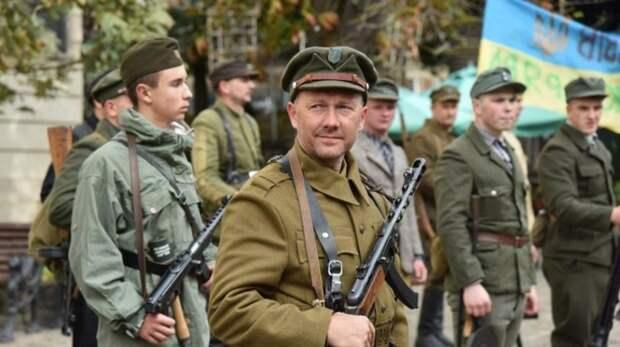 Бандера-нацисты на марше в честь дивизии СС «Галичина» пообещали «войну» в Москве