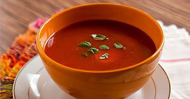 Томатный суп для сжигания жира и улучшения пищеварения