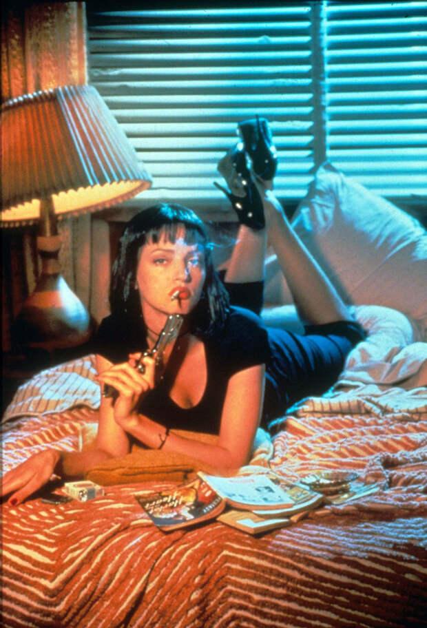 Ума Турман (Uma Thurman) в фотосессии Фируза Захеди (Firooz Zahedi) для фильма Pulp Fiction (1994), фото 3