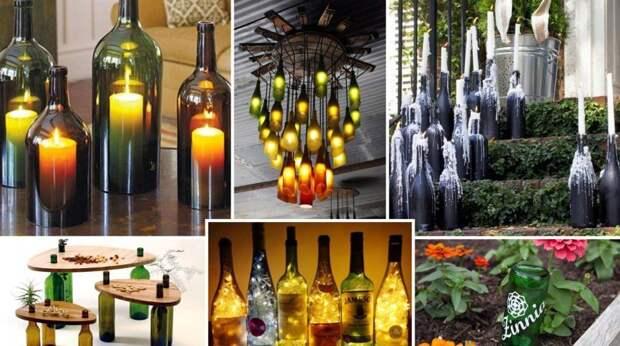 14 идей, как можно использовать пустые винные бутылки