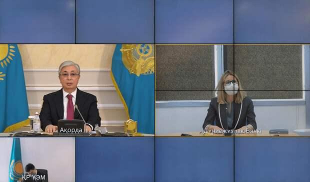 Токаев побеседовал с вице-президентом Всемирного банка