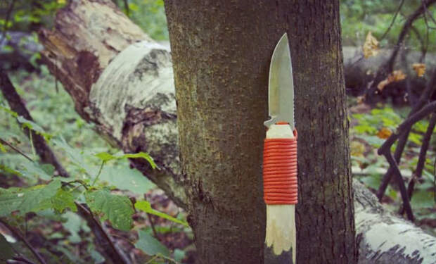 Делаем копье из старого ножа