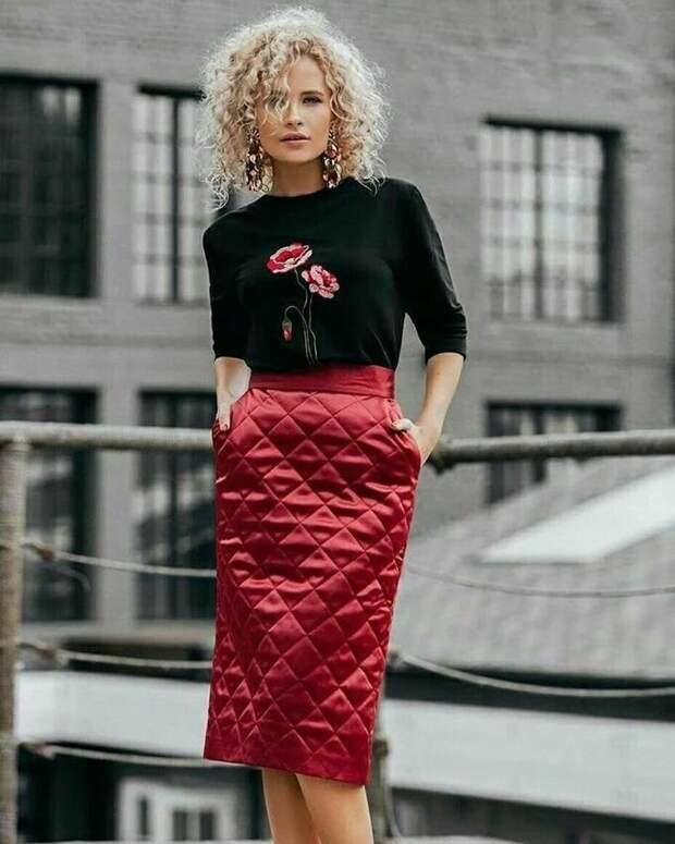 Стеганые юбки для современных модниц 40+